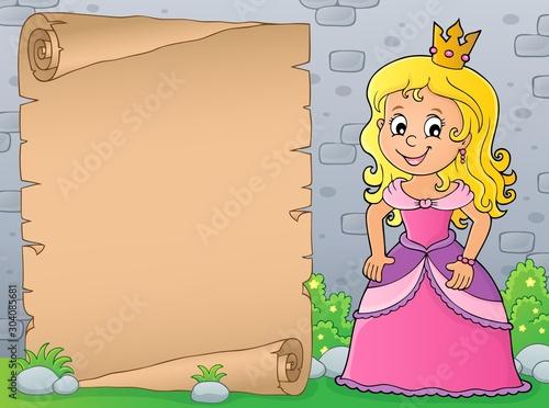 Spoed Fotobehang Voor kinderen Princess topic parchment 4