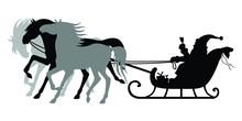 Santa Claus Rides A Sleigh Pul...