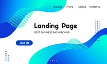 Landing Page Template. Vector ...