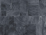 Fototapeta Kamienie - Black slate ceramic tile, seamless texture map for 3d graphics