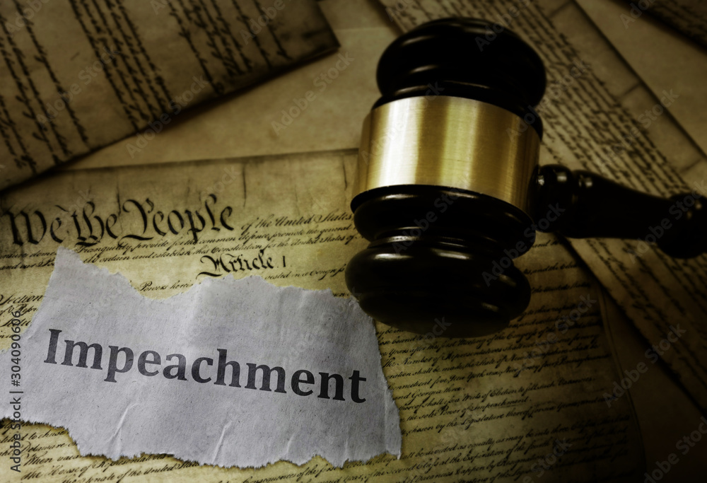 Fototapety, obrazy: Constitution Impeachment concept