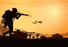 Military Vector Illustration, ...