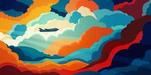 Airplane Flying Above Beautifu...