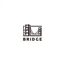 Black Bridge Logo Design Template Inspiration