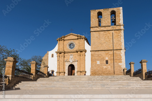View of the cathedral of San Gerlando in Agrigento, Sicily, Italy Wallpaper Mural