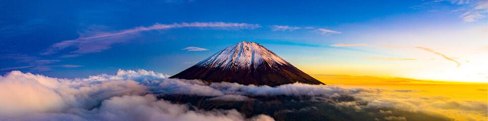 Panel Szklany Do kuchni Beautiful scenic landscape of mountain Fuji or Fujisan in Yamanashi Prefecture, Japan