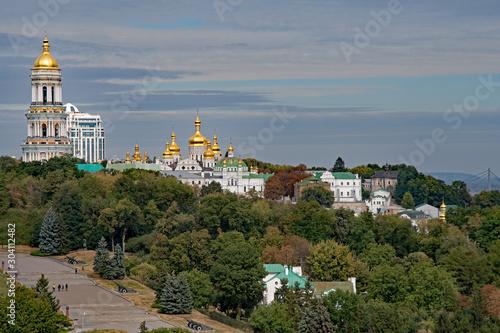Staande foto Kiev Blick auf das Kloster Kyevo Pecherska Lavra in Kiew in der Ukraine