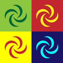Color Tornado Icon Isolated On...
