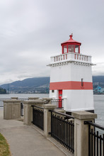 Kanada, Vancouver, Brockton Point Lighthouse Im Stanley Park, BC