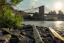 Manhattan Bridge From Pebble Beach