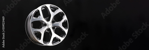 car cast aluminum alloy wheels, black silver with polished front, very beautiful and modern, fashion Canvas Print