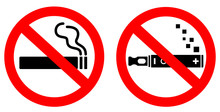 No Smoking Vector Signs Set