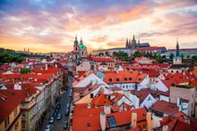 Prague Old Town At Sunset