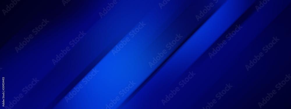 Fototapeta Wide banner - dark blue background