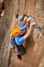 John Huyck Goes Horizontal On Dream Weaver, A 5.9 Crack On Queen Spire Off Homestake Pass Near Butte, Montana.