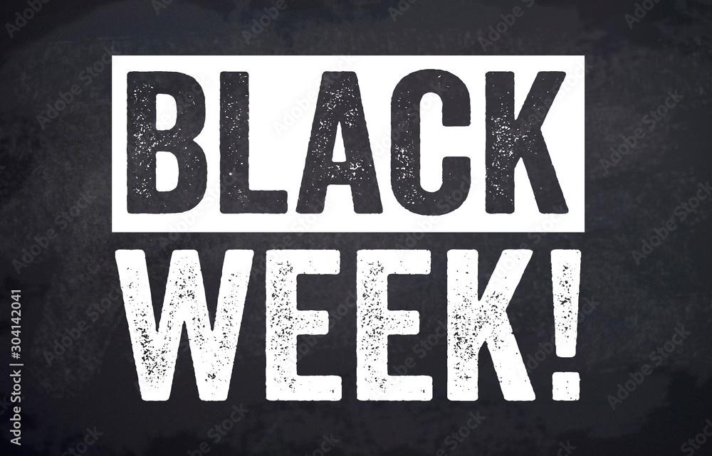 Black friday and black week illustration