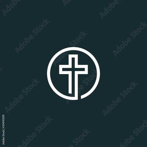 Fotomural church logo design vector