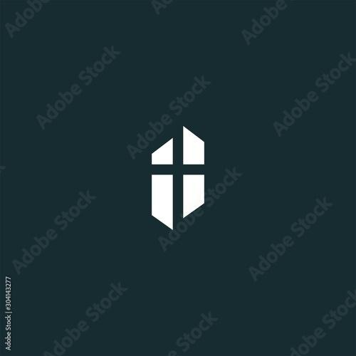 Cuadros en Lienzo church logo design vector