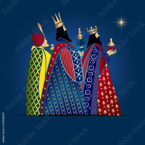 Photo Vector Illustration of Epiphany.A Christian festival.