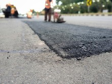 Road Surface Leveling Work Wit...