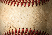 Closeup Of A Dirty Baseball
