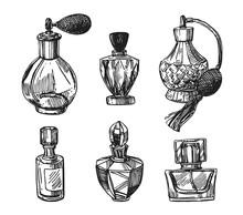 Fragrance Bottles Vector Illus...