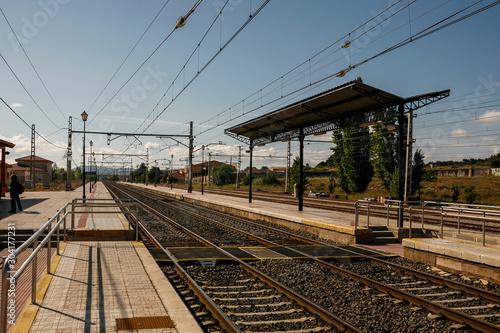 Railway landscape in Almansa.