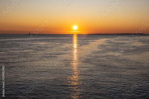 Canvas Prints North Sea Sonnenuntergang am meer