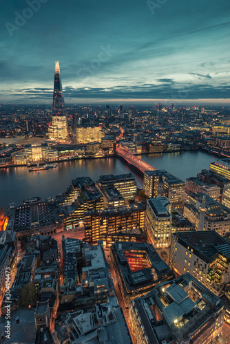 view from the sky garden in London