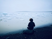 Contemplating The Lake Of Glac...