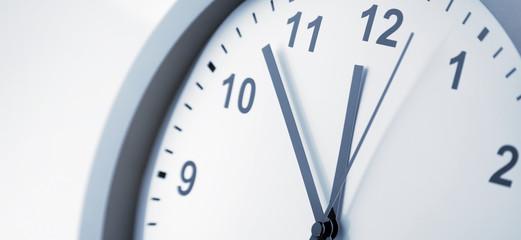 Clock face close-up