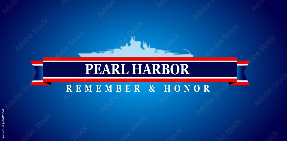 Fototapety, obrazy: Pearl Harbor Remembrance, background