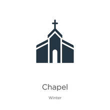 Chapel Icon Vector. Trendy Flat Chapel Icon From Winter Collection Isolated On White Background. Vector Illustration Can Be Used For Web And Mobile Graphic Design, Logo, Eps10