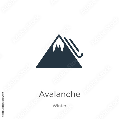 Photo Avalanche icon vector