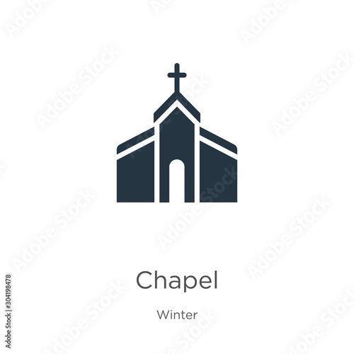 Chapel icon vector Fototapet