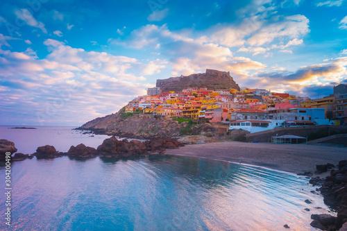 Photo Beautiful photo of Castelsardo old cit, Sardinia, italy.
