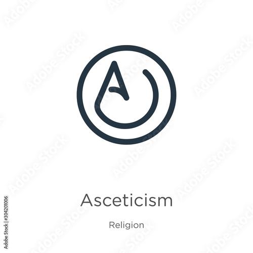 Asceticism icon vector Wallpaper Mural