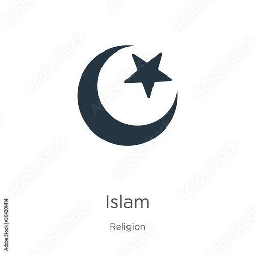 Islam icon vector Canvas Print