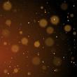 Gold bokeh, shiny glittering golden and silver stars