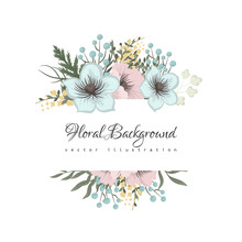 Floral Border Background - Pin...