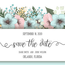 Floral Wedding Background - Pink And Mint Green Flower Pattern