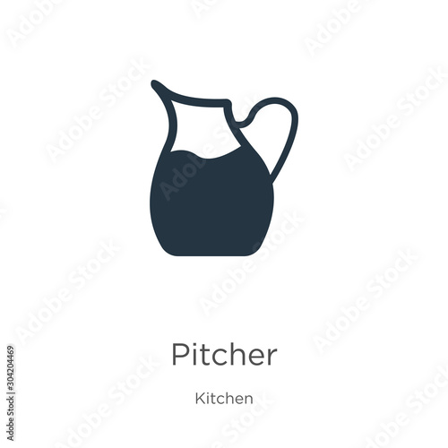 Fototapeta Pitcher icon vector. Trendy flat pitcher icon from kitchen collection isolated on white background. Vector illustration can be used for web and mobile graphic design, logo, eps10 obraz