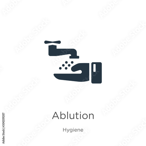 Ablution icon vector Slika na platnu