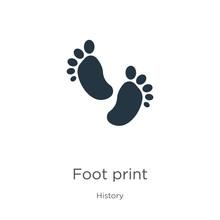 Foot Print Icon Vector. Trendy...