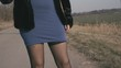 Female Prostitute Standing On The Road