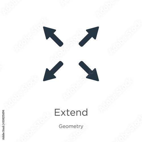 Photo  Extend icon vector