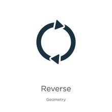 Reverse Icon Vector. Trendy Fl...