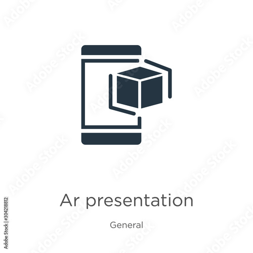 Photo Ar presentation icon vector