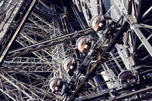 Close Up On Eiffel Tower Struc...