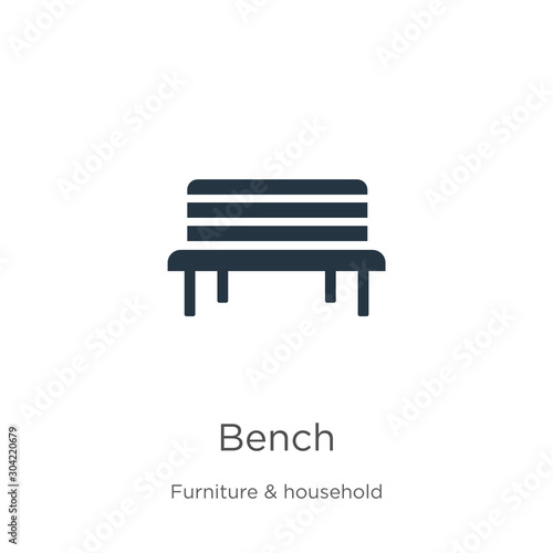Bench icon vector Canvas-taulu